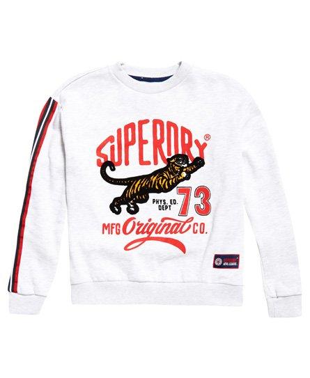 Superdry Tiger Original Tops Sweat Du Femme Cou Shirt Pour Ras arCwOBxaq