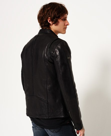 Superdry Classic Real Hero Biker Leather Jacket