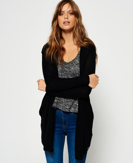 Superdry Rayon Hooded Fine Knit Cardigan