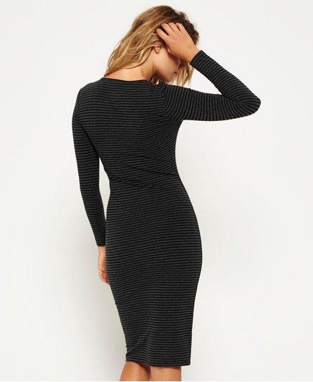 Superdry Langærmet midi-kjole