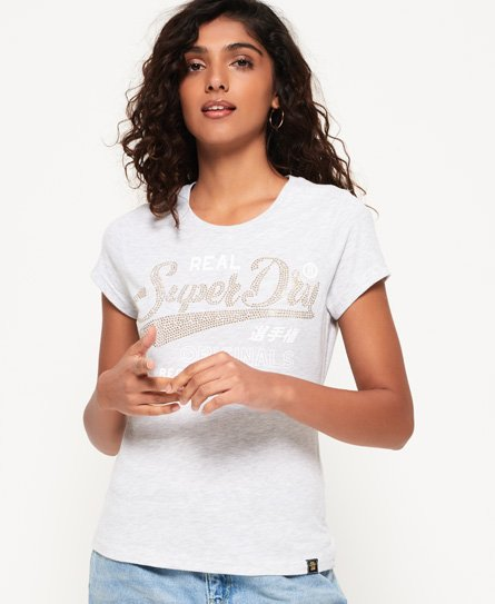 Superdry T-shirt à strass Original