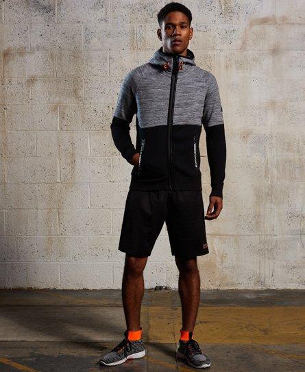 Superdry Gym Tech Colour Block hættetrøje med lynlås