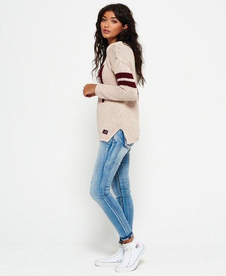 Superdry Pia Varsity Knit Jumper