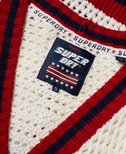 Superdry Gilet en crochet Varsity Spirit