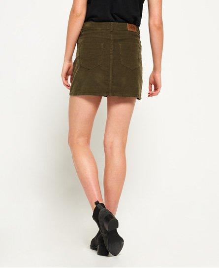 f953c00912 Womens - Cord Mini Skirt in Khaki   Superdry