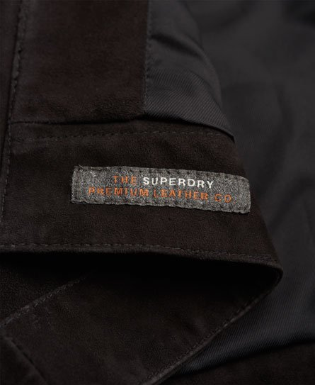Superdry Billie Wildleder-Bomberjacke
