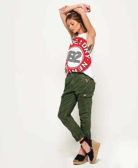Superdry Girlfriend Cropped Cargo Pants In Green
