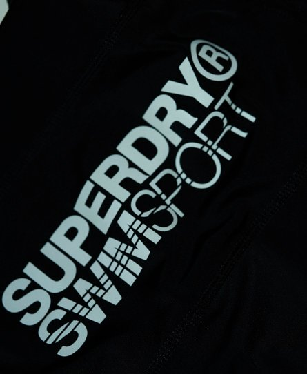 Superdry Swim Sport midi-badebukser med stretch