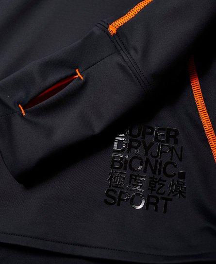 Superdry Camiseta con media cremallera Bionic