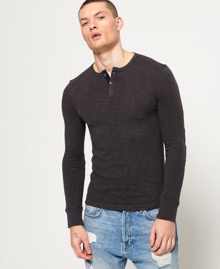 Superdry Bootlegger Long Sleeve Grandad Top