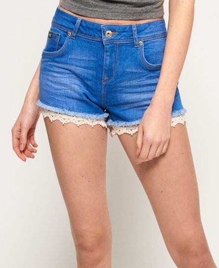 Superdry Mini short à bordure en dentelle