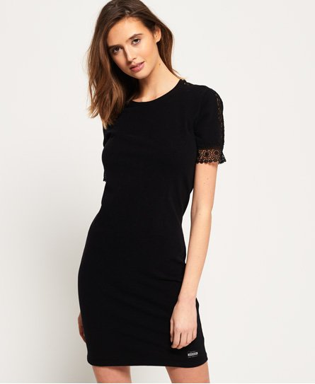 Superdry Pacific Lace Panelled Dress