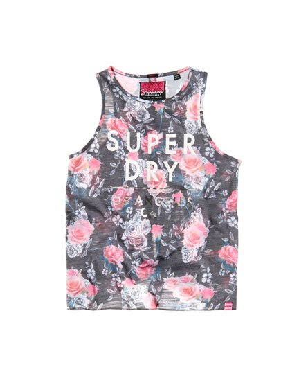 0f45d18b Womens - Skater Knot Back Tank Top in Mono Rose Sd   Superdry