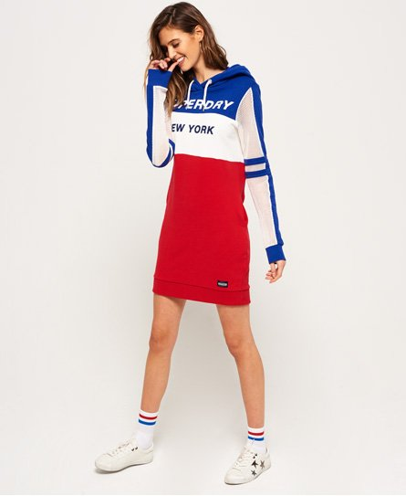 Superdry Mesh Sleeve Hood Dress