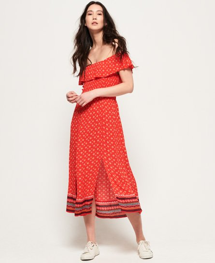 Superdry Ruffle Smocked Dress