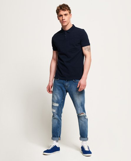 Superdry Embossed Short Sleeve Polo Shirt