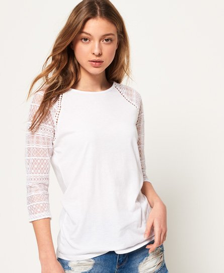 Superdry Embroidered Long Sleeve Raglan Top