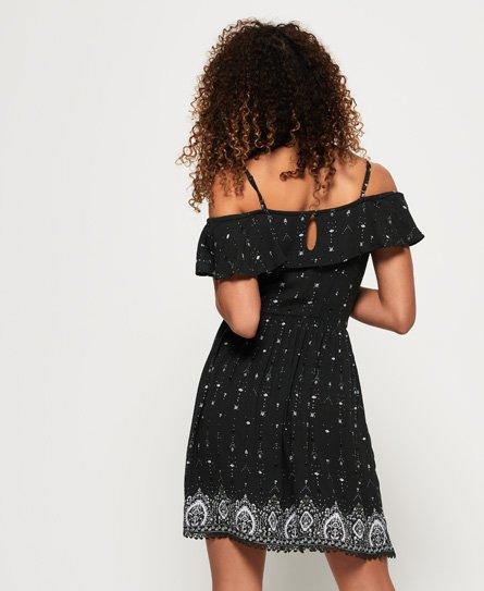 Superdry Peekaboo geborduurde jurk