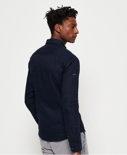 66bd23f695 Superdry Camisa de lino de manga larga Premium Wash - Camisas para ...