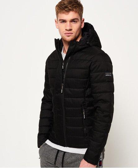 Superdry Double Zip Tweed Fuji Hooded Jacket