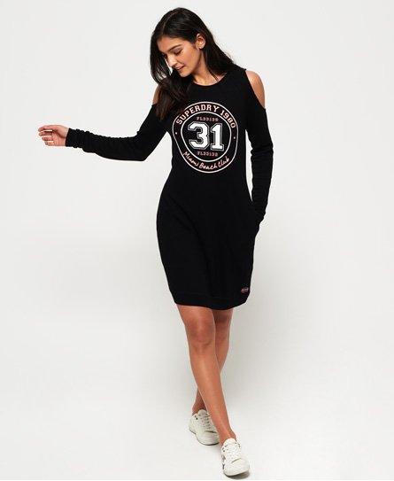 Superdry Vestido en tejido sudadera con hombros cut-out Miami