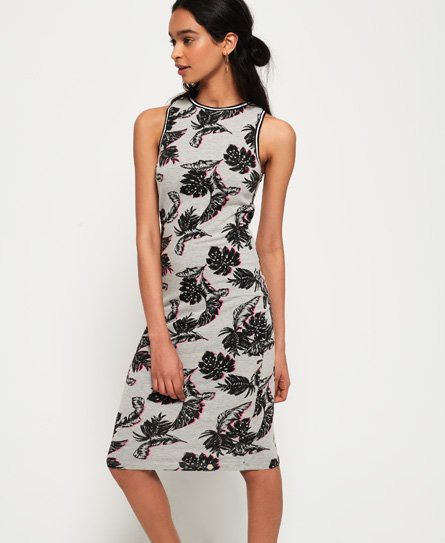 Superdry Beach Leaf midi-jurk