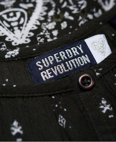 Superdry Damen Peekaboo Oberteil Mit Stickerei