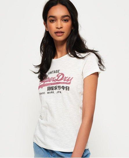 Strukturiertes T-Shirt mit Vintage Logo