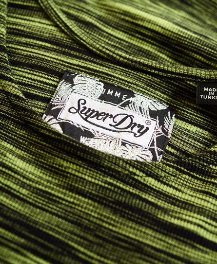 Superdry Robe moulante rayée Vacation