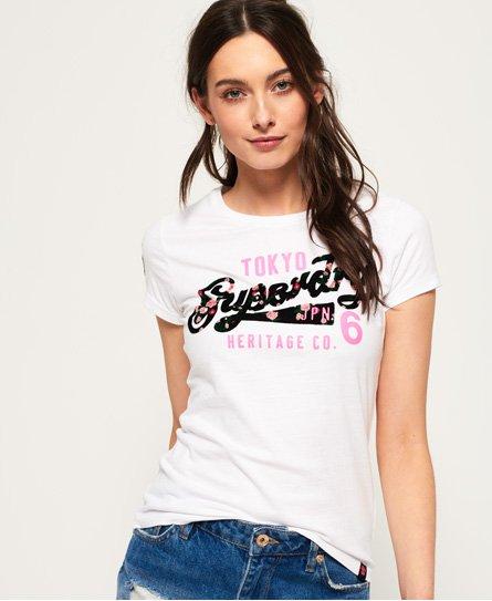 Superdry T-shirt Heritage Flock