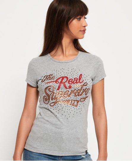 Superdry T-shirt à strass Rock