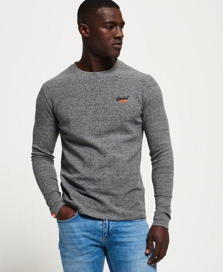 Superdry Orange Label Textured Long Sleeve Top