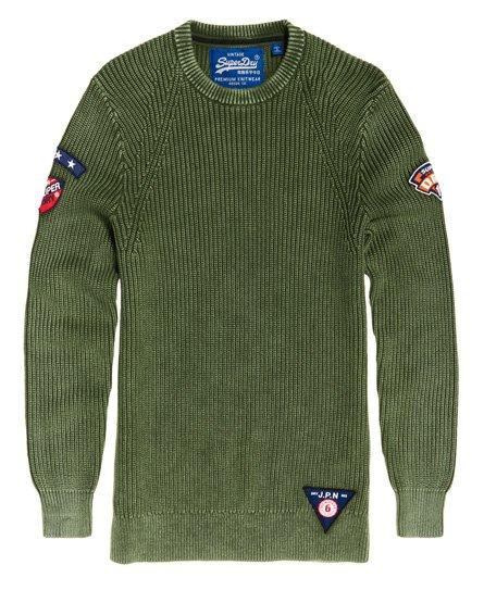 Superdry Pull à col rond texturé Garment Dye Wash Pulls
