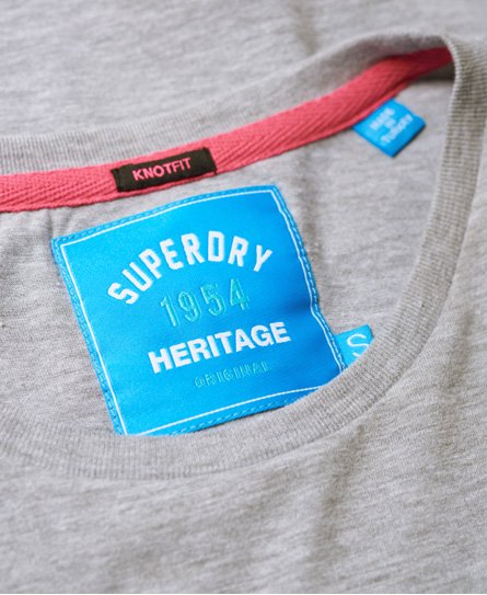 Superdry The Real SDry T-Shirt mit Zierknoten