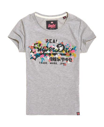 Superdry T-shirt con logo vintage e ricamo a rilievo