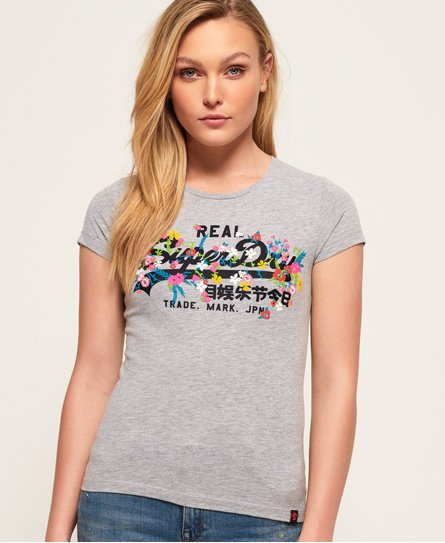 Superdry T-shirt Logo Vintage brodé en relief