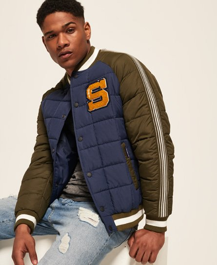 Superdry Kyan Box Quilt Bomber Jacket
