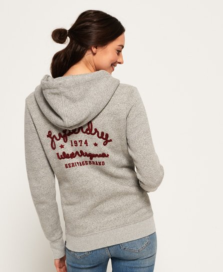 Superdry Rylee Embroidered Zip Hoodie