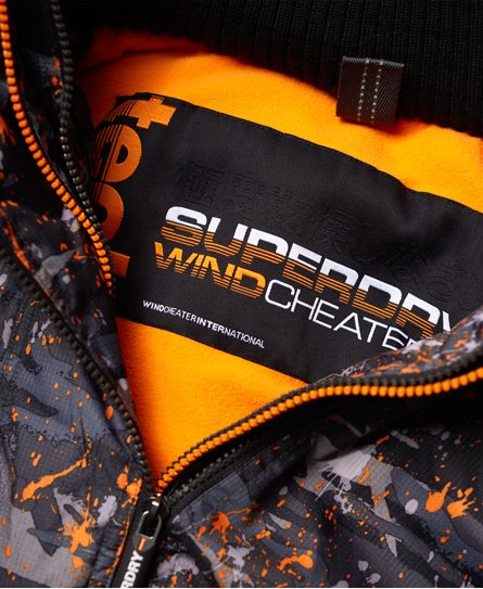 Superdry Pop Zip Print Hooded Arctic SD-Windcheater Jacket