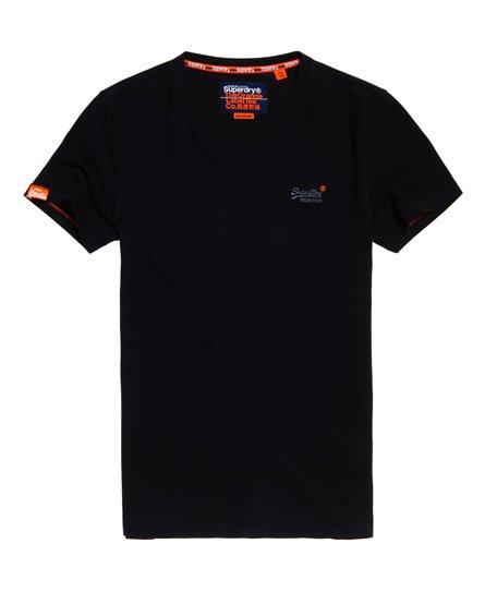 Superdry Orange Label Vintage geborduurd T-shirt met V-hals