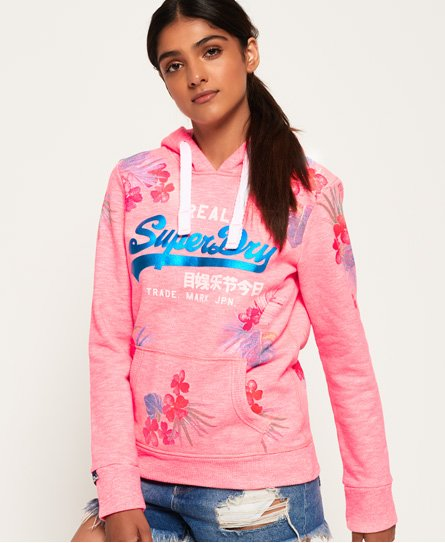 Superdry Vintage Logo Palm Placement Hoodie