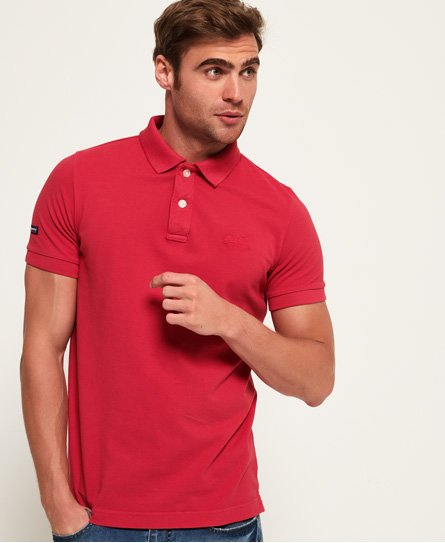 Superdry Vintage Destroyed Pique Polo Shirt