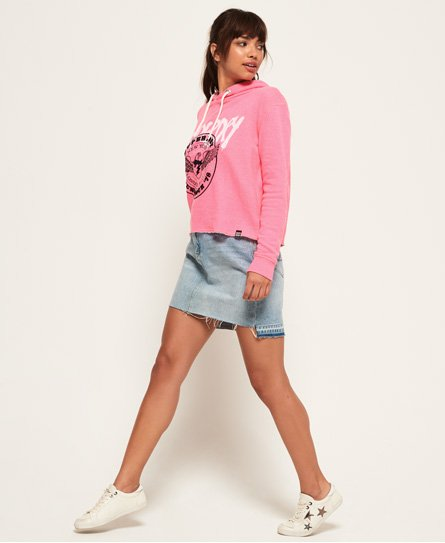 Superdry Applique Crop Hoodie