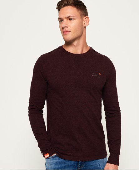 Orange Label Textured Long Sleeved T-Shirt