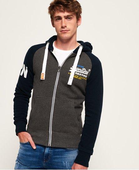 Superdry Premium Goods Raglan Zip Hoodie