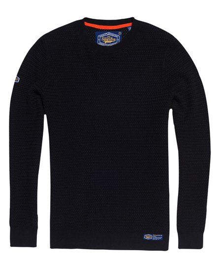 Superdry Academy Textured Crew Neck Jumper