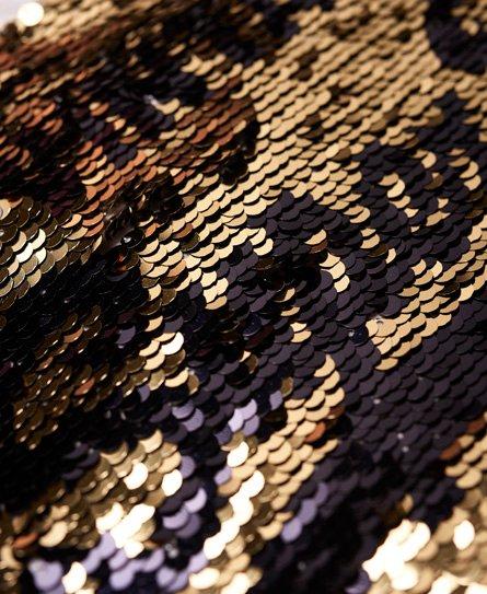 Superdry T-shirt boyfriend slim con paillettes Premium
