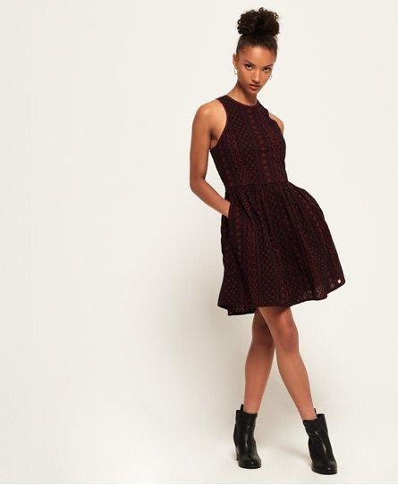 Superdry Eloise Schiffli Racer Dress