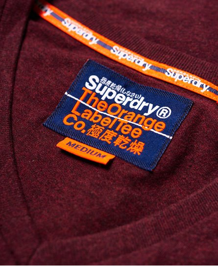 Superdry Orange Label Vintage broderad v-ringad t-tröja
