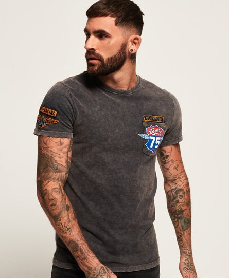 Superdry T-shirt à poche Custom Denim Stitch